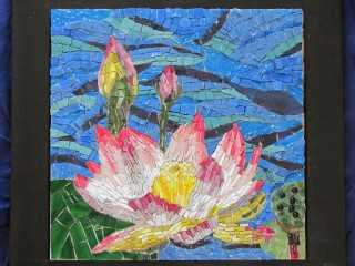 Mosaikbild Seerose