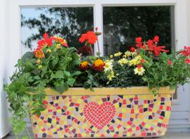 Blumen-Herz-Pott