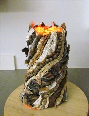 """Skulptur """"Vulkan"""""""